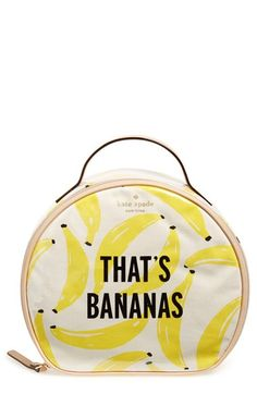 kate spade new york 'flights of fancy - that's bananas' cosmetics case available at #Nordstrom