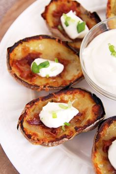 Baked Bacon and Cheese Potato Skins