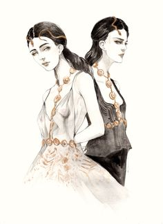 "drawadot: "" (via Illustration.Files: S/S 2016 Haute Couture Fashion Illustrations by Connie Lim - Draw A Dot.Draw A Dot.) """