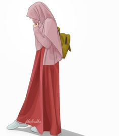 Your scarf is the central piece inside the apparel of females having hijab. Cute Cartoon Girl, Cute Love Cartoons, Anime Muslim, Muslim Hijab, Hijabi Girl, Girl Hijab, Muslim Fashion, Hijab Fashion, Muslim Pictures