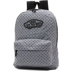 Vans Realm Backpack ($38) ❤ liked on Polyvore featuring bags, backpacks, grey, grey bag, grey backpack, backpack bags, knapsack bag and day pack backpack