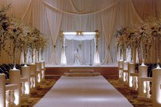 """Indoor Wedding Ceremony Decorations Your wedding will probably prove to be one of the most elaborate """"planned"""" events of your life, so naturally you want to make sure that everything go… Wedding Ceremony Ideas, Indoor Wedding Ceremonies, Indoor Ceremony, Wedding Seating, Reception Ideas, Wedding Decorations Pictures, Church Wedding Decorations, Decor Wedding, Decoration Pictures"""