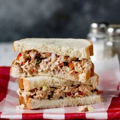 Back to School Recipes - NYT Cooking -from sandwiches, soup, snacks, dessert Tuna Sandwich Recipes, Sandwich Fillings, Salad Sandwich, Tuna Salad, Chicken Salad, Tomato Sauce Recipe, Sauce Recipes, Lime Chicken Recipes, Famous Recipe