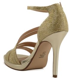 Women's Delicious Amoret Ruche Straps on High Heel Sandal w/ Ankle Strap * Check out the image by visiting the link. (This is an affiliate link) #shoes