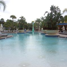 Hotel Pool at the Hilton Orlando Hotel, Florida, USA Orlando Resorts, Hotel Pool, Florida Usa, Sea World, Universal Studios, Hotel Reviews, Disney, Outdoor Decor, Travel