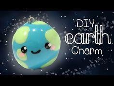 DIY Kawaii Earth Charm Tutorial