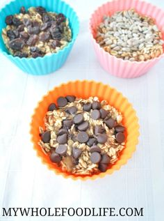 Satisfy everyone in your family with these personalized oatmeal cups.  Super easy breakfast recipe that can be made ahead and frozen.  Vegan and gluten free.