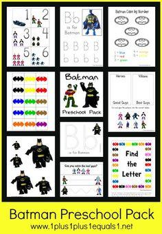 Batman Printable Pack, free from @1plus1plus1