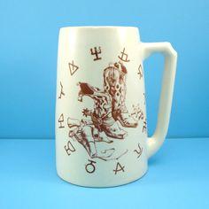 Vintage Hyalyn Pottery Cowboy Beer Mug by VintageCreekside on Etsy, $46.00