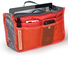 Orange Organizer Handbag https://api.shopstyle.com/action/apiVisitRetailer?id=543949479&pid=uid8100-34415590-43