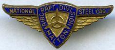 National Steel Car Aircraft Division (Gold) Pin. Malton, Ontario Rafting, Division, Badges, Ontario, Safety, Aircraft, Steel, Gold, Cards