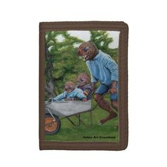 Shop Fish Man Autumn Fun Fantasy Art Nylon Wallet created by HelmsArtCreations. Girls Fishing Quotes, Fishing Girls, Women Fishing, Ice Fishing Lures, Different Fish, Fish Man, Canvas Board, Wallets For Women, Art Images