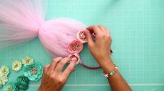 Trolls headband tutorial with tulle. DIY kids craft.