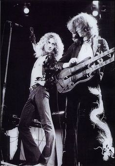 Jimmy Page & Robert Plant Led Zeppelin Stairway to Heaven