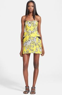 RED Valentino Print Cotton Piqué Dress available at Frock Design, Yellow Fashion, Beautiful Outfits, Beautiful Clothes, Spring Collection, Nordstrom Dresses, Frocks, Printed Cotton, Valentino