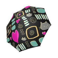 Love Cats Foldable Umbrella Umbrellas, Love, Cats, Amor, Gatos, Cat, Kitty, Kitty Cats