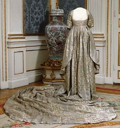 Courtesy of The Royal Armoury (http://emuseumplus.lsh.se/eMuseumPlus). The coronation dress worn by queen Fredrika as she was crowned alongside her husband Gustav IV Adolf in Norrköping in 1800.
