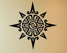 Mayan or Incan symbol of the sun or a star, Vinyl Decal, J00025.
