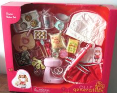 Our Generation Home Accessory - Master Baker Set for 18 Dolls for sale online Our Generation Doll Accessories, Our Generation Dolls, American Girl Accessories, Baby Doll Accessories, Og Dolls, Girl Dolls, American Girl Doll Room, American Girl Food, Master Baker