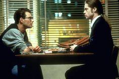 17 september 2012: Interview. Foto: Brad Pitt als vampier Louis de Pointe du Lac en Christian Slater als interviewer Daniel Malloy in Interview with the Vampire: The Vampire Chronicles