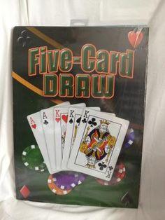 6803dfd3b42   Five Card Draw   Metal Sign