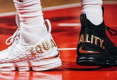 "33949800b09e26 Nike LeBron 15 ""Equality"" Black and White"