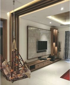 Indigo Blue trend can look Stunning in your Living Room: See How! House Ceiling Design, Ceiling Design Living Room, Bedroom False Ceiling Design, Home Room Design, Home Interior Design, False Ceiling Living Room, Living Room Wall Designs, Living Room Partition Design, Room Partition Designs
