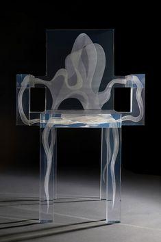 Seductive design Ghost Chair,Design by Ralph Nauta and Lonneke Gordijn for DRIFT, (love these chairs) Acrylic Furniture, Funky Furniture, Unique Furniture, Contemporary Furniture, Furniture Design, Furniture Ideas, Casa Pop, Muebles Art Deco, Design Innovation
