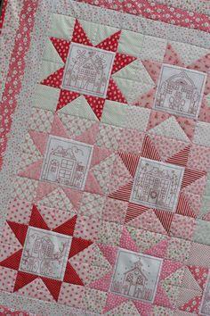 Redwork quilt idea