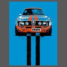 Alfa Romeo Rally Limited Edition 9x12 Print from IROK Clothing