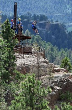 Zipline over Cheyenne Canyon with  Seven Falls Soaring Adventure