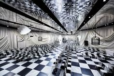 baa539053ed894 bureau betak designs surrealist checkered pavilion for dior s in paris