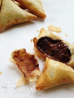 Chocolate samosas #CookBlogShare