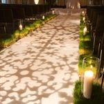 An alternative aisle runner - can we use lights instead of a carpet?