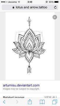 Arrow and lotus