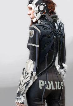 fuck yeah cyberpunk — Police Officer by LoopyWanderer Cyberpunk Character, Cyberpunk Art, Cosplay, Science Fiction, Rude Mechanicals, Arte Sci Fi, Steampunk, Art Manga, Sci Fi Armor