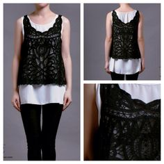 New collection  Vienna 2pc top (black lace outer) IDR 215,000