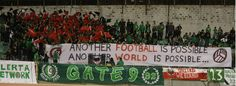 "Gate 9 Omonia Nicosia Cyprus ""Another FOOTBALL is possible - another WORLD is possible"" (old school )"