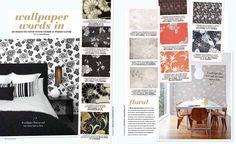 Various patterns of Australian wallpaper. Design by Florence Broadhurst.