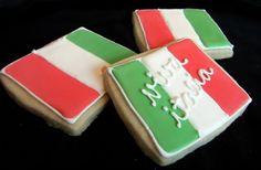 Italian flag cookies. cool idea