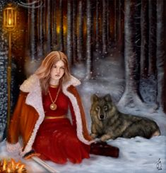 The Lady and The Wolf by FreyjaSig.deviantart.com on @deviantART