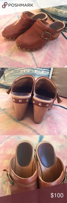 Isabel Marant Clogs saddle brown/cognac leather Beautiful and classic size 38 Isabel Marant clogs, gently worn a handful of times. Newly resoled for safe walking! Isabel Marant Shoes Mules & Clogs