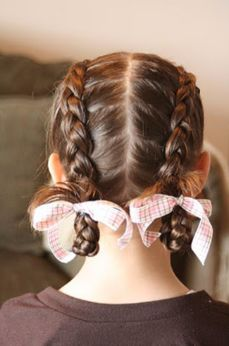 Hair Today: Looped Upside-Down French Braid French Braid Pigtails, Upside Down French Braid, Pigtail Braids, French Braids, Dutch Braids, Little Girl Hairstyles, Pretty Hairstyles, Braided Hairstyles, Girly Hairstyles