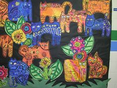 Laurel Burch inspired Cat by Paintbrush Rocket, via Flickr