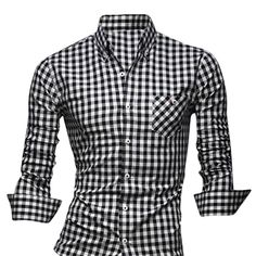 Jeansian Men's Slim Fit Long Sleeves Casual Shirts 8523 Fashion Moda, New Fashion, Fashion Outfits, Casual Wear, Men Casual, Slim Man, Swagg, Dress To Impress, Casual Shirts