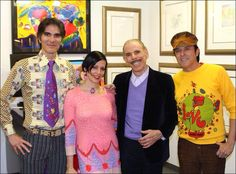 Peter Max •~• with Kari French of Luxuria Radio and friends via Peter Max's Facebook!