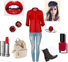 """""""here is my first express yourself outfit"""" by loustar21 on Polyvore"""