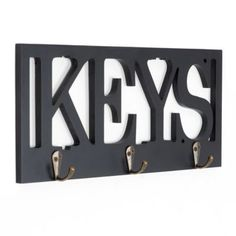 Cute way to add décor and keep your keys in one place.