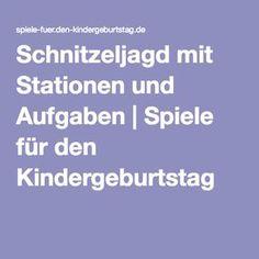 Schnitzeljagd mit Stationen und Aufgaben | Spiele für den Kindergeburtstag