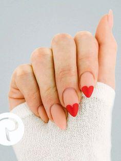 Lovely Valentine's Day Nail Ideas * 2020 - Elegant Life French Nail Designs, Beautiful Nail Designs, Cool Nail Designs, Toe Nail Art, Toe Nails, Acrylic Nails, Nail Manicure, Nail Polish, Long Gel Nails
